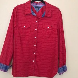 Tommy Hilfiger polka dot botton down shirt